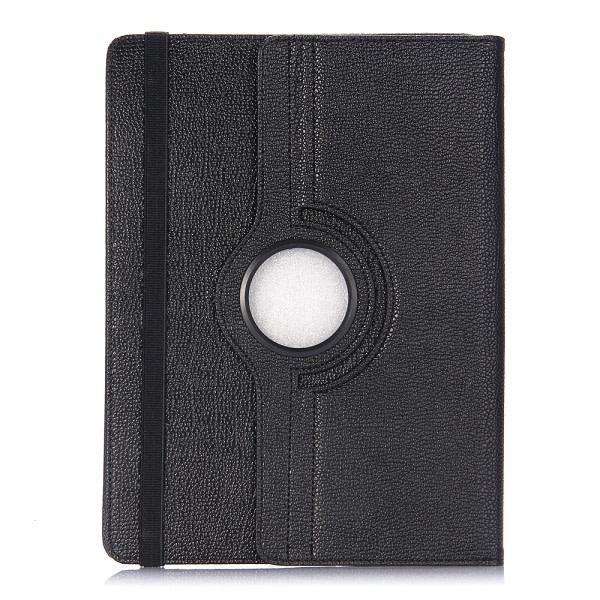 """Läderfodral med roterbart ställ för upp 10"""", svart svart 10"""