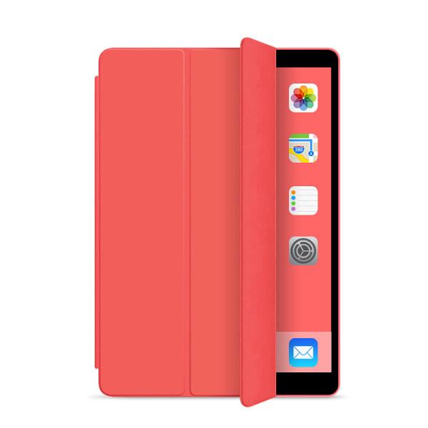 Läderfodral med ställ, iPad Mini 5 röd