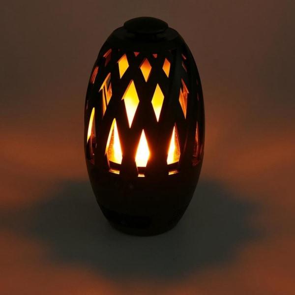 Köp LED lampa med brinnande flamma och Bluetooth högtalare
