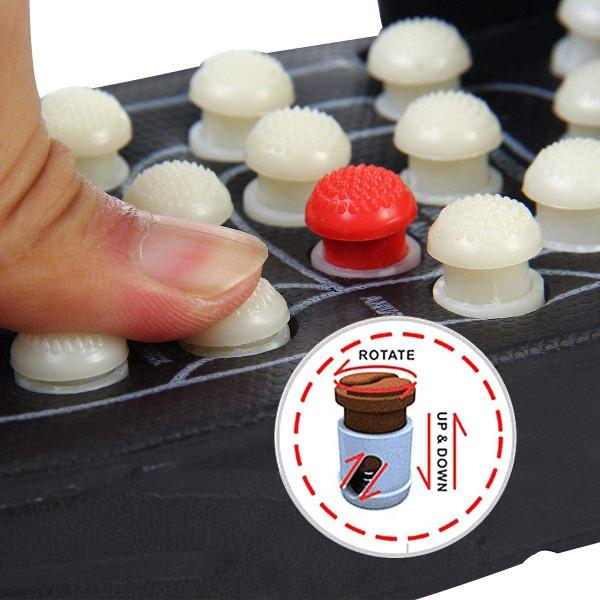 Sandaler med akupunktur fotmassage, Stl 42-43 svart 42