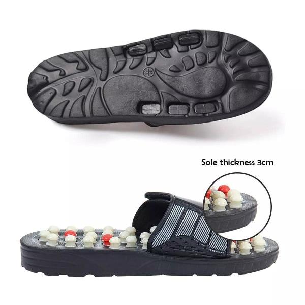Sandaler med akupunktur fotmassage, Stl 44-45 svart 44