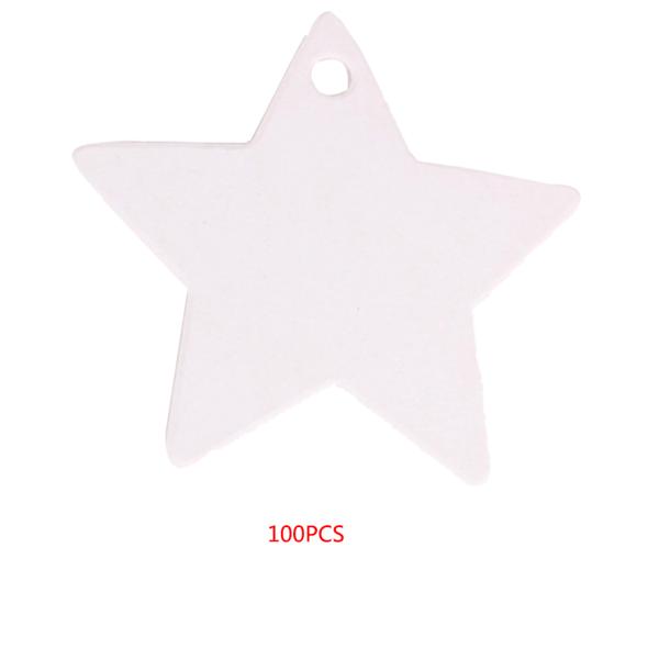 100st Star Shape Etikett Papper Tomt Häng Tagg Favoritkort