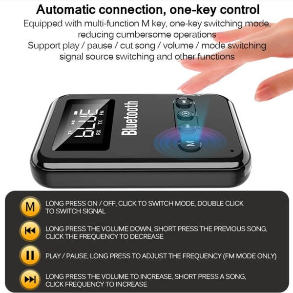 2-in-1 Bluetooth 5.0 Audio Transmitter Receiver Speaker as the picture
