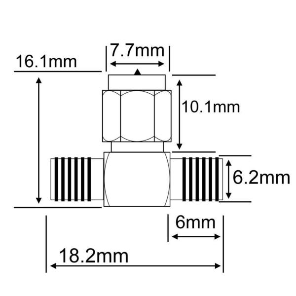 5PCS RF Coax Adapter SMA till Dual SMA Connector Splitter Antenn