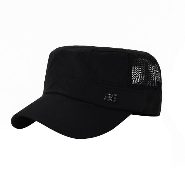 Justerbar utomhus solhatt Baseball Cap Casual Flat Mesh Hat