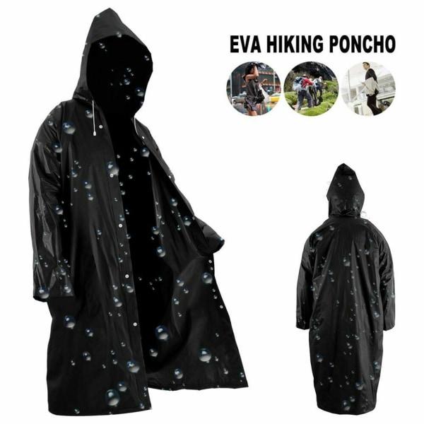 Adults Raincoat Outdoor Rainwear EVA Cloth Hoodie as the picture