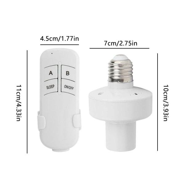 E27 Fjärrkontroll Glödlampa Trådlöst ljusuttag