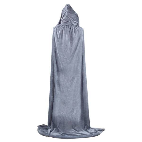 Halloween Costumes Cloak Hooded Witch Long Cloaks Hood Capes black 170cm