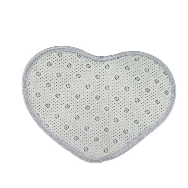 Hjärtformad mjuk tuftad matta Golvmatta matta 30 * 40cm