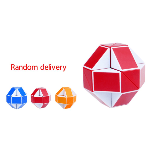 Magic Snake Shape Cube Puzzle Toy Christmas Gifts random color 1pc