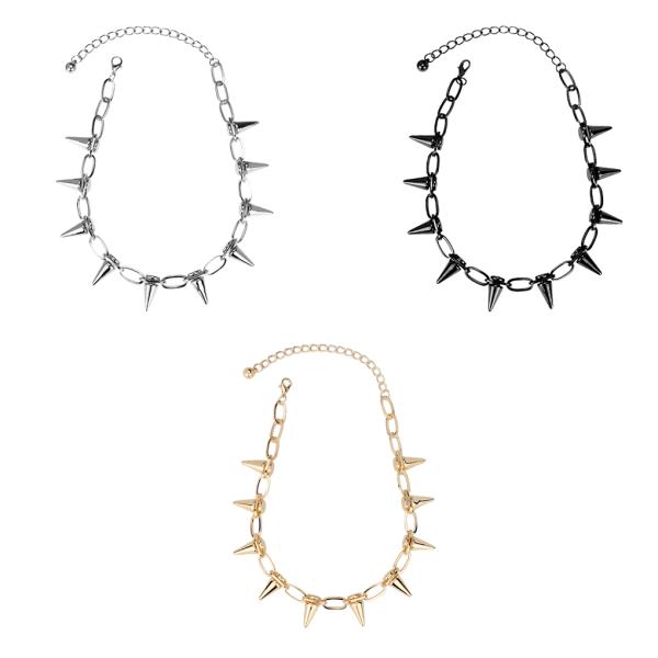 Necklace Rivet Punk Collar Choker Adjustable Neck Chain Jewelry No.1