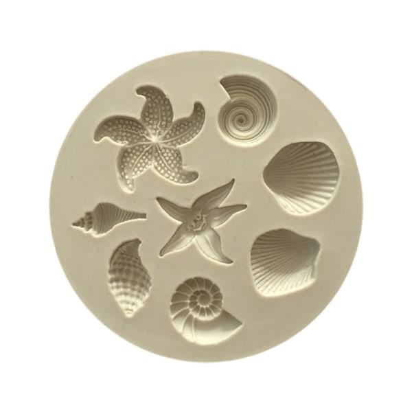 Seashell silikonkakform Fondant DIY-form