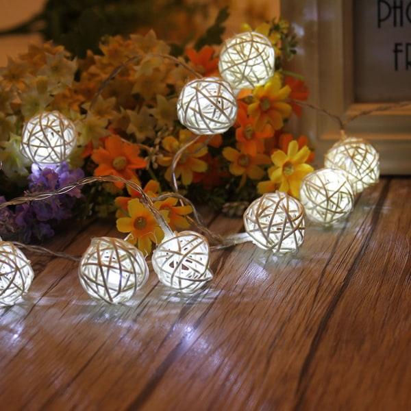 USB Rattan Ball Housing Flexible LED String Party Lamp Decor Colorful Light