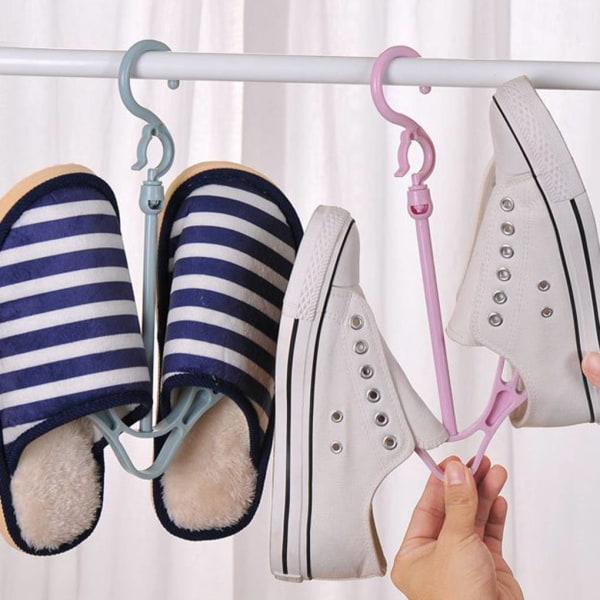 Vindtäta skor torkställ Roterande hängande dubbel krokhängare