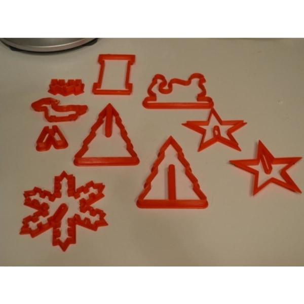 3D Christmas Cookie Cutters multifärg S