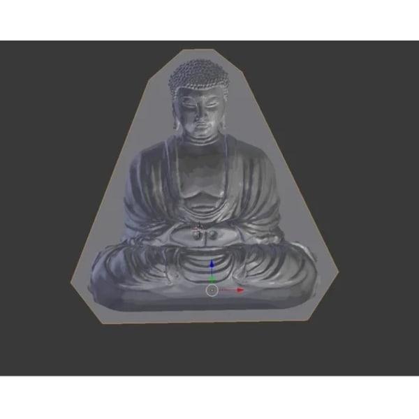 Buddha optisk illusion mögel för gjutning multifärg S