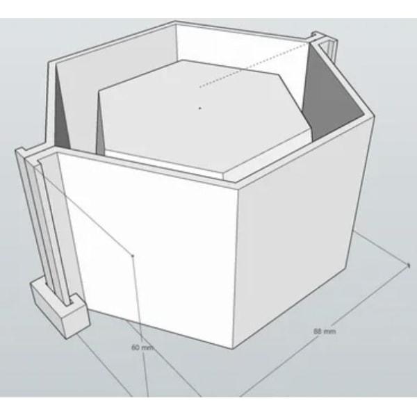 concrete pot mold Svart L