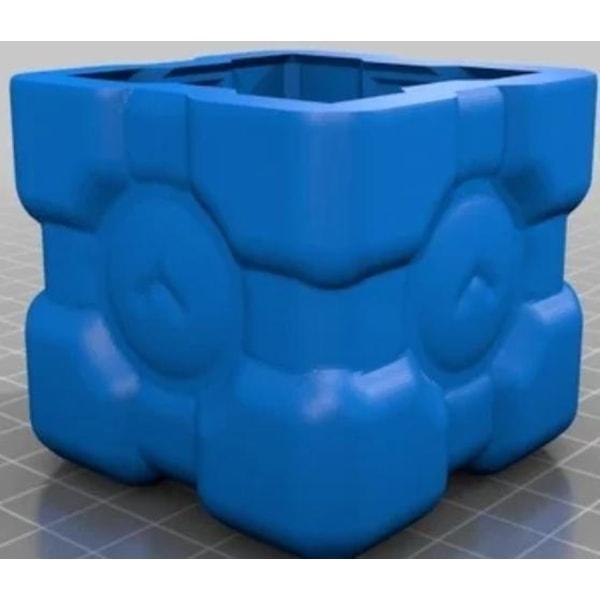 Open Face Weighted Companion Cube Mold Svart XL