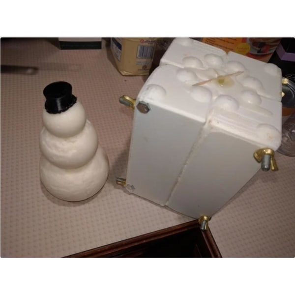 Snowman  Mold, ice, snow, candle, concrete, silicone  and more multifärg M