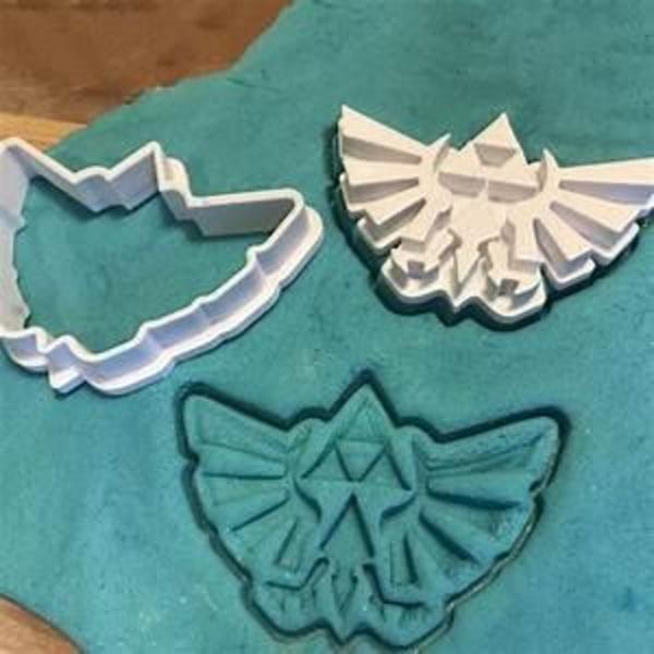 Zelda Cookie Cutter - Hyrule Symbol Svart S