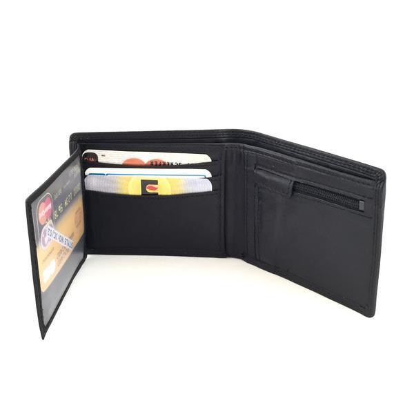 Liten plånbok skinn  Svart one size