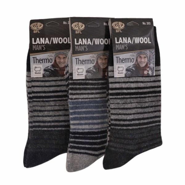 Wool Ullstrumpor 12 pack, HERR 40-46 multifärg one size