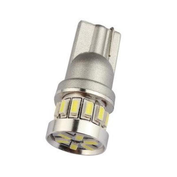 2X T10 Canbus W5W 18 st 3014 LED - Vit Vit one size