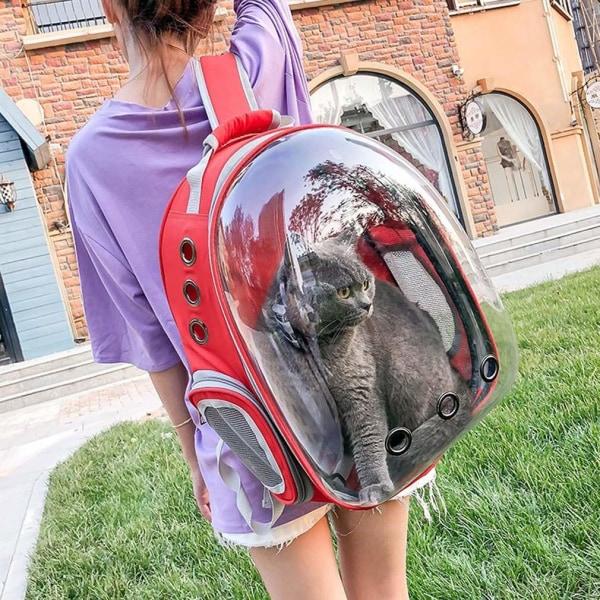 Köp Blå Katt Hund Väska Ryggsäck Transportväska Blå one size