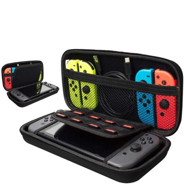 Hård Förvaringsväska, Fodral för Nintendo Switch, Svart Svart
