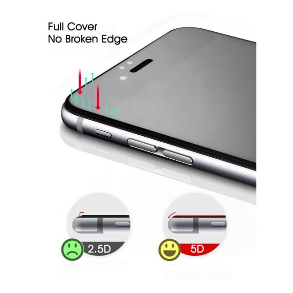 Härdat Glasskydd iPhone 7/8 Plus 5D Täcker hela skärmen Svart  Transparent