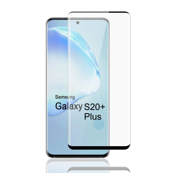 Härdat Glasskydd Samsung S20 Plus Full Fit ,Fingerprint  Transparent one size