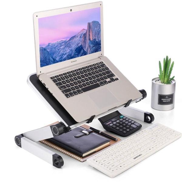Hopfällbar Laptopbord, Aluminium  ergonomisk stativ (vit) Transparent