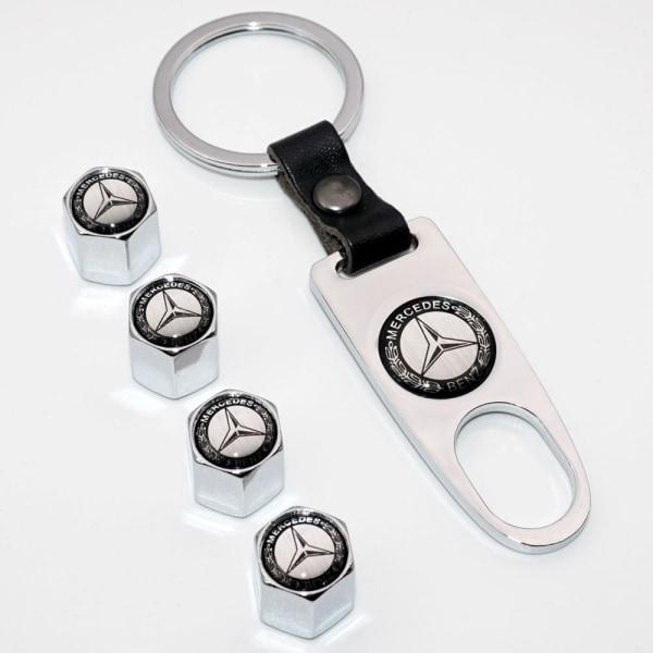 Mercedes logo ventilhattar i med nyckelring Silver one size