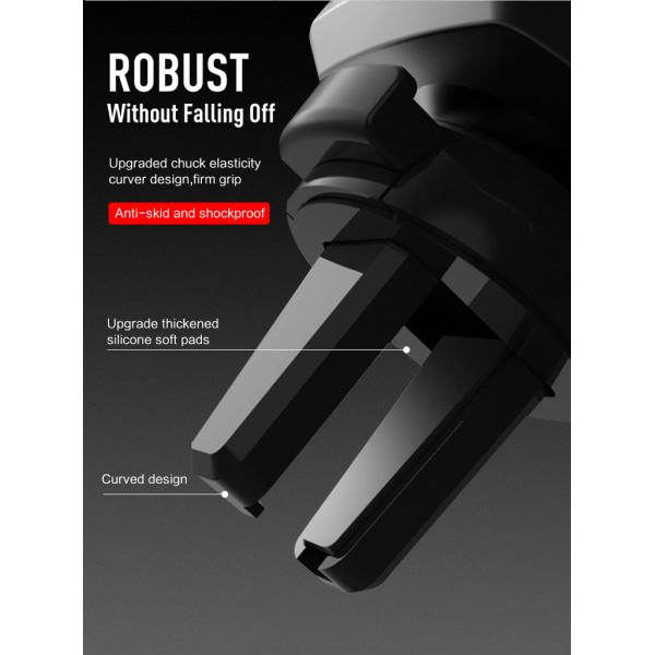 Mobilhållare för bilen - Gravity bilhållare luftintag Svart