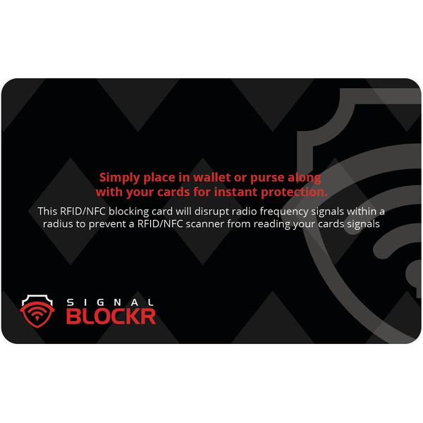 2X RFID Blockerings kort - RFID skydd - Skydda dina Bankkort Black one size