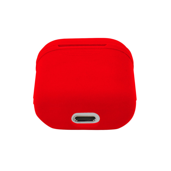 Silikon skal fodral för Apple Airpods / Airpods 2 - Röd Röd