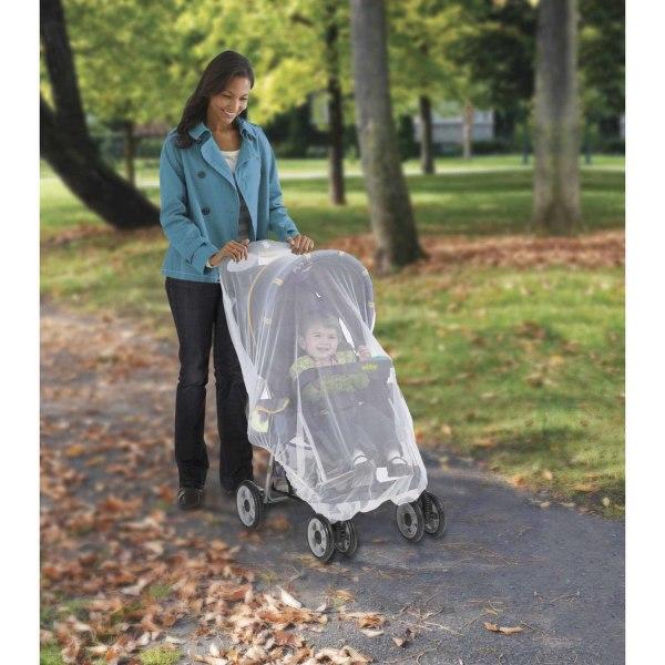 Vit Myggnät Insektsnät för Barnvagn Vit