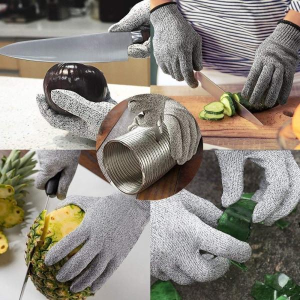 XL Skyddshandske för kock HPPE  kategori 5 grå