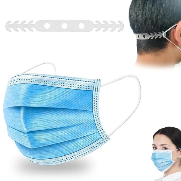 100-Pack - Munskydd - CE-Märkt - Skydd Mun Mask Skyddsmask LightBlue