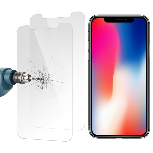 Skärmskydd - iPhone XS - Härdat Glas / Skyddsglas