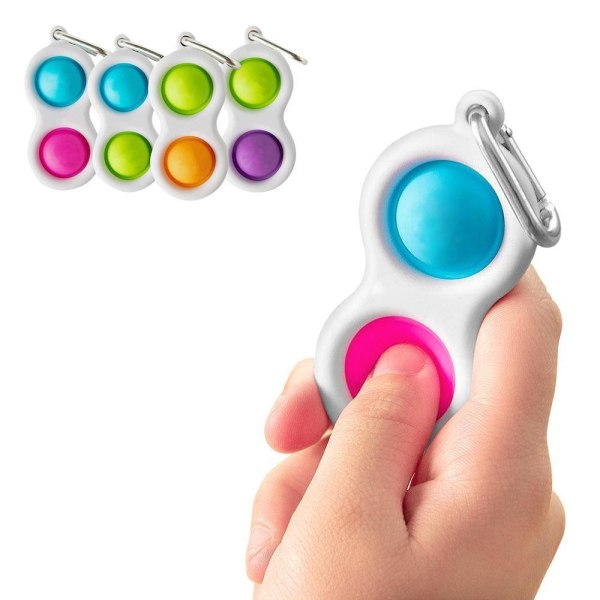 2-Pack - Mini Simple Dimple Pop It Fidget Toys - Leksak Två Bubblor