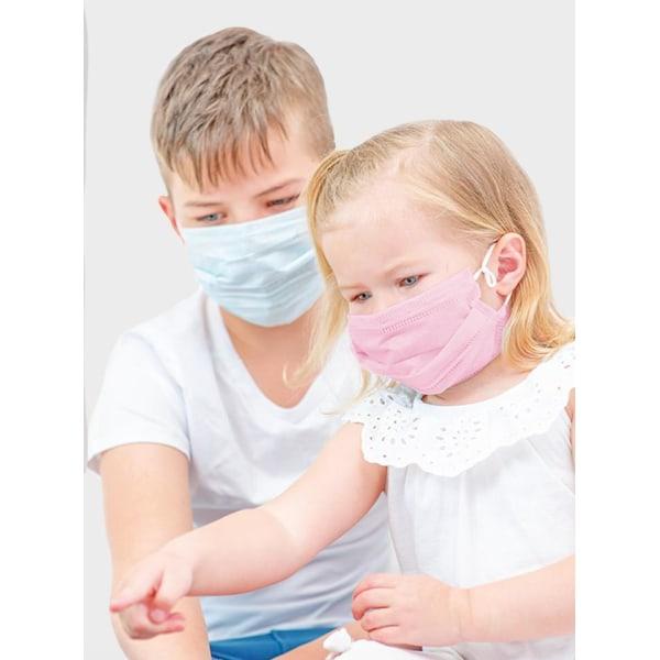 20-Pack - Munskydd Barn - CE Märkt - Skydd Mun - Mask Skyddsmask Ljusblå