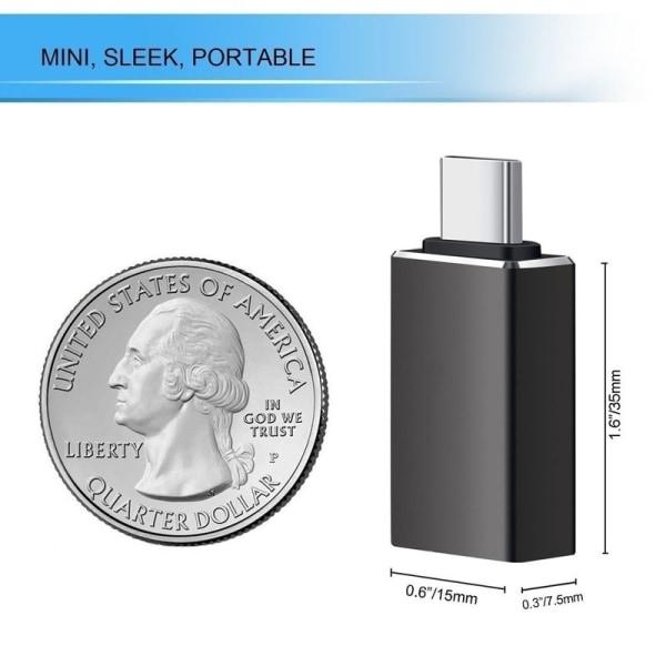 Adapter Macbook - Thunderbolt 3 till USB 3.0 Svart