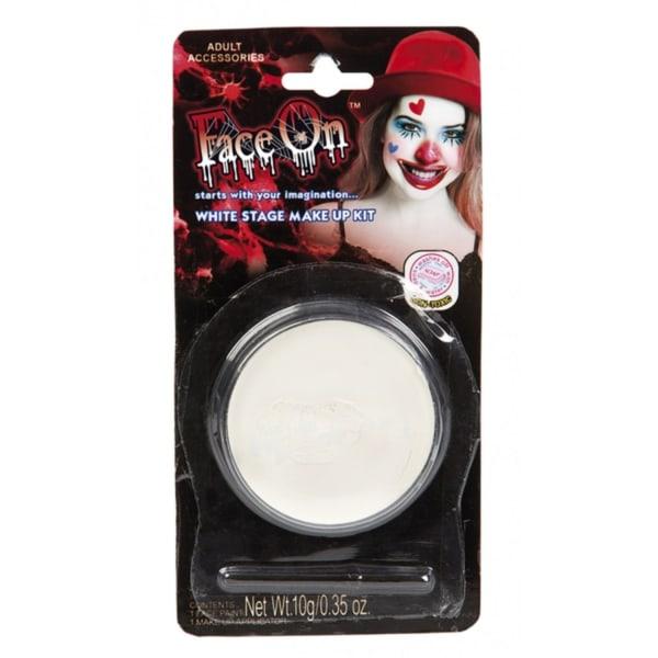 Ansiktsfärg, Oljebaserad - Vit 10g - Halloween & Maskerad