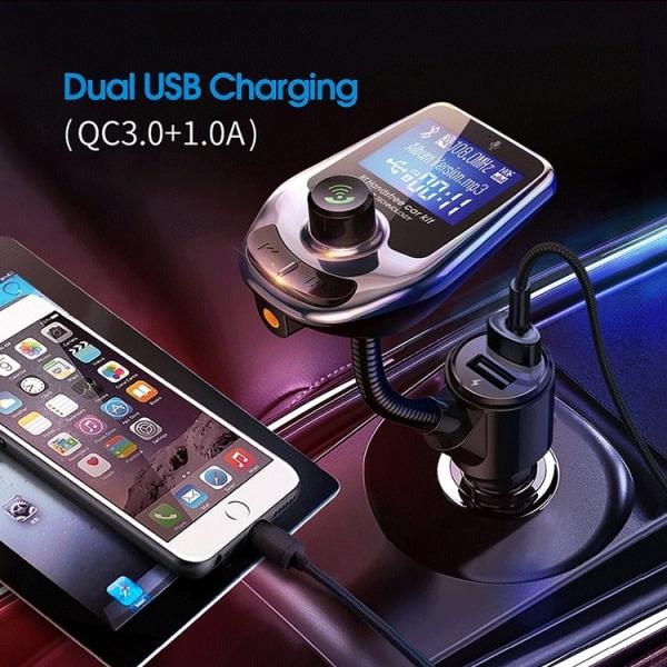 Bluetooth FM-sändare / mp3 med USB & Svarsfunktion - Till Bil
