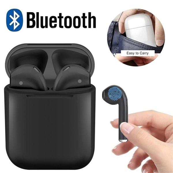 InPods - AutoConnect - Hörlurar Touch - Bluetooth + Silikonskydd Svart