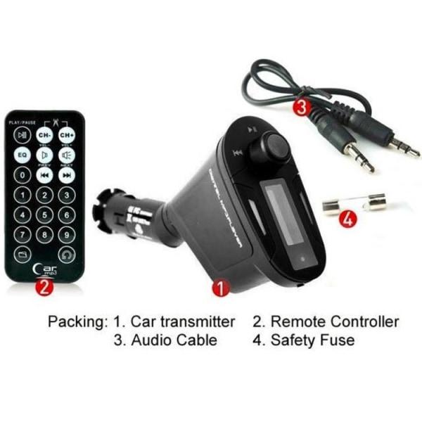 FM-sändare / MP3 med USB & Svarsfunktion - SD-Kort - Till Bil