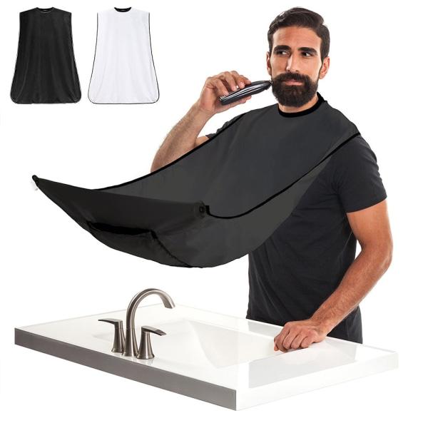 Förkläde för Rakning & Skägg - Samlar upp skägget Svart
