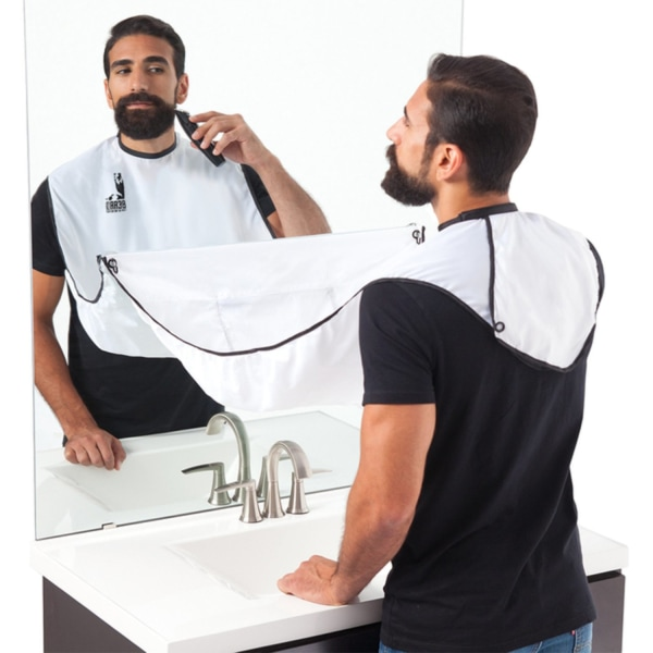Förkläde för Rakning & Skägg - Samlar upp skägget Vit