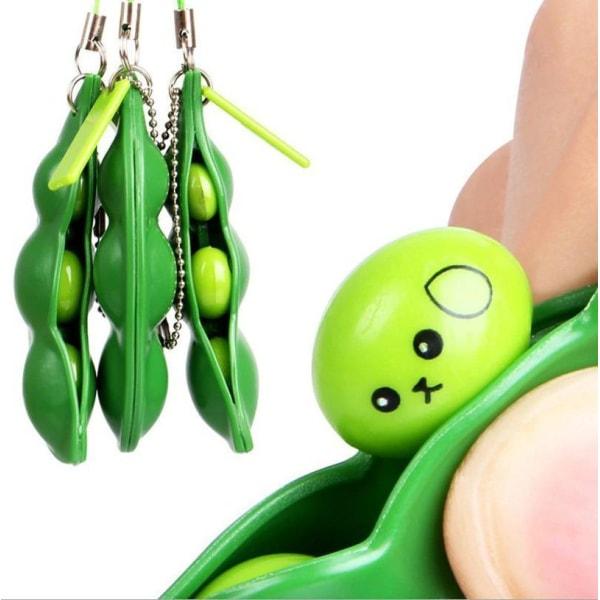 Green Beans - Bönor - Fidget Böna Toys - Leksak / Sensory Grön